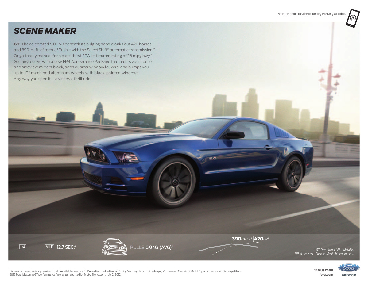 deep impact blue 2014 ford mustang gt coupe photo detail. Black Bedroom Furniture Sets. Home Design Ideas