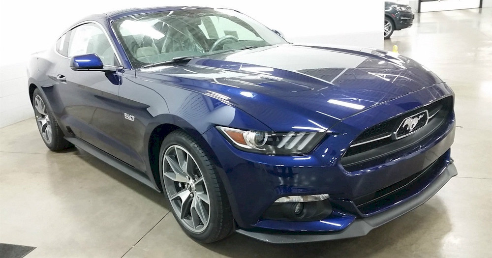 Kona Blue 2015 Ford Mustang GT 50th Anniversary Coupe