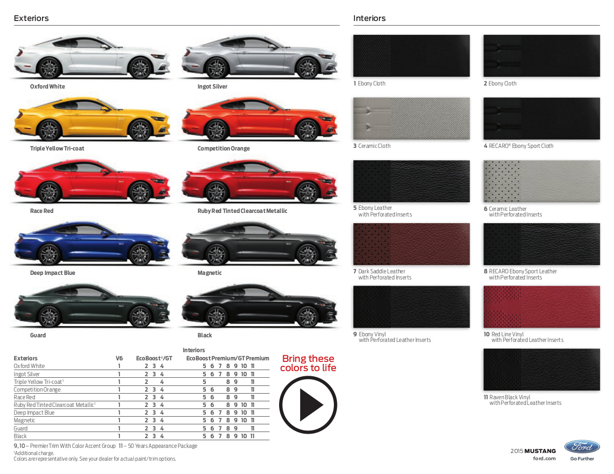 2015 Ford Explorer Color Chart >> 2015 Ford Mustang - MustangAttitude.com Photo Detail