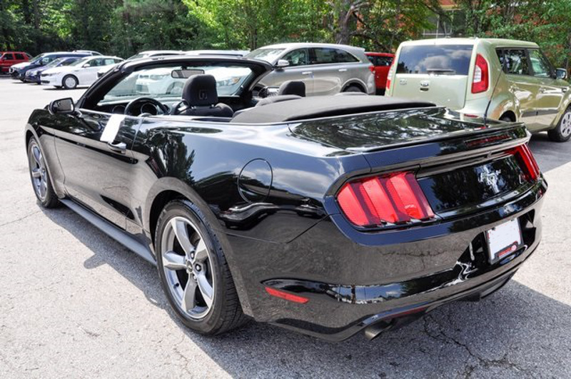 Shadow Black 2016 Mustang V6 Convertible