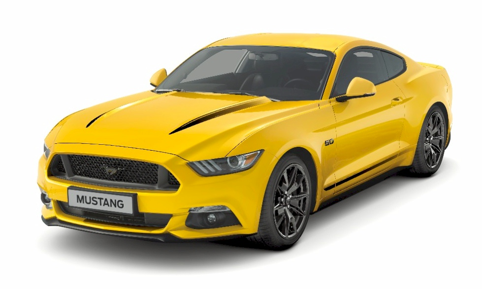 Triple Yellow 2017 Mustang Black Shadow Edition