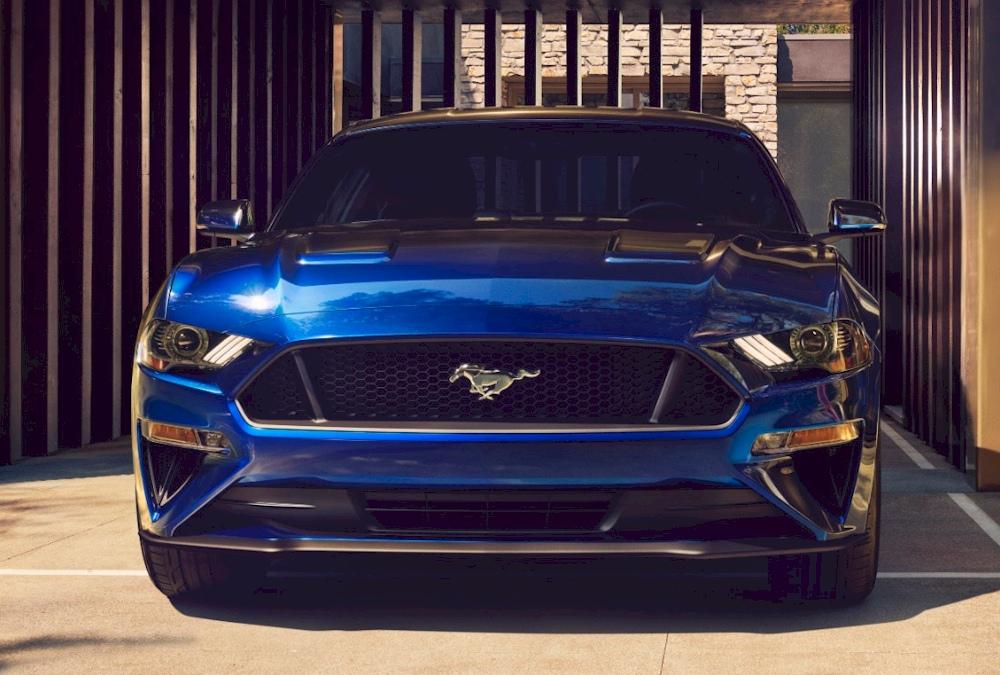 Kona Blue 2018 Ford Mustang