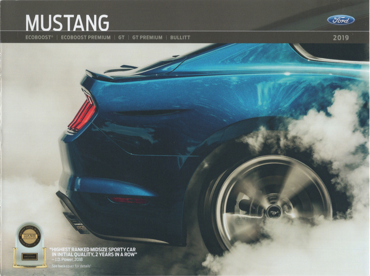 2019 Ford Mustang Sales Brochure - cover