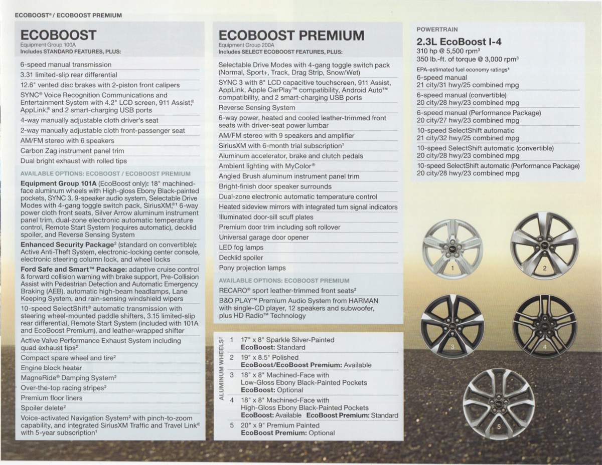 EcoBoost features and options