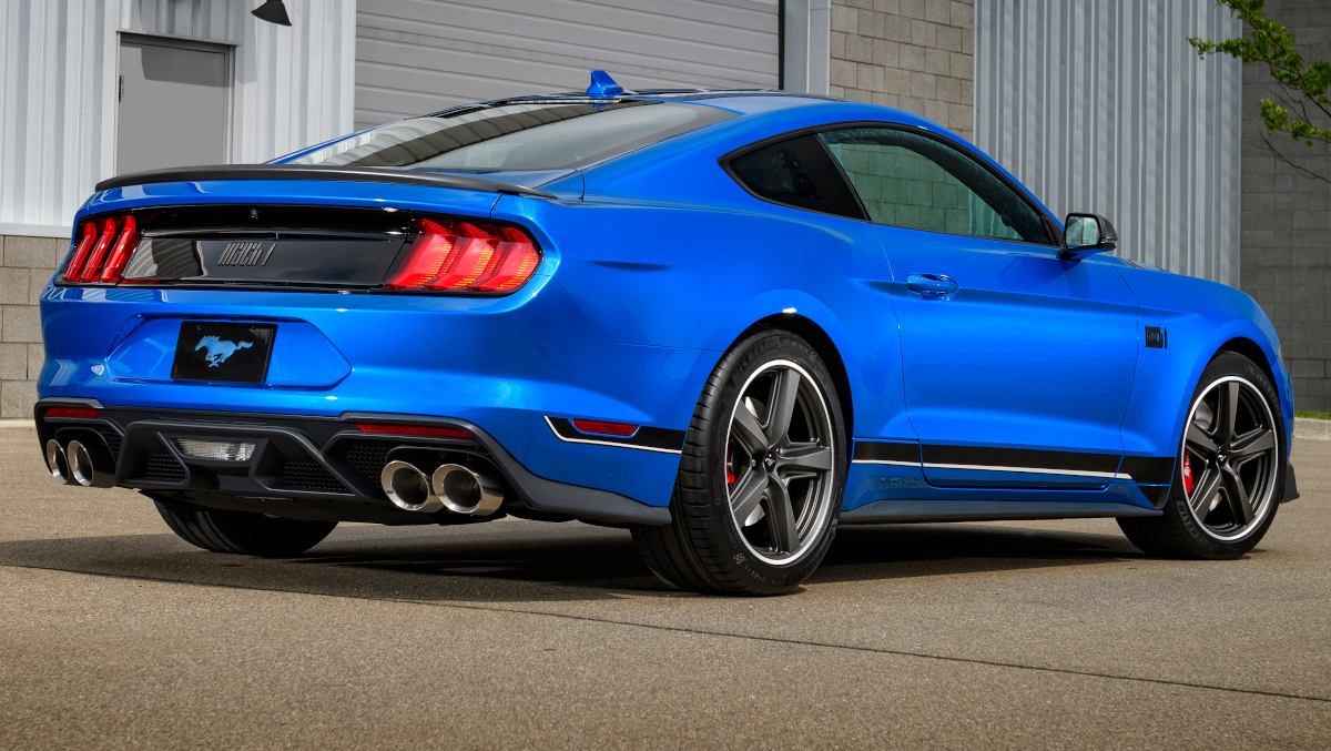Performance Blue 2021 Mach 1 Ford Mustang Fastback ...